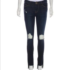 Frame Denim Cropped Skinny Jeans